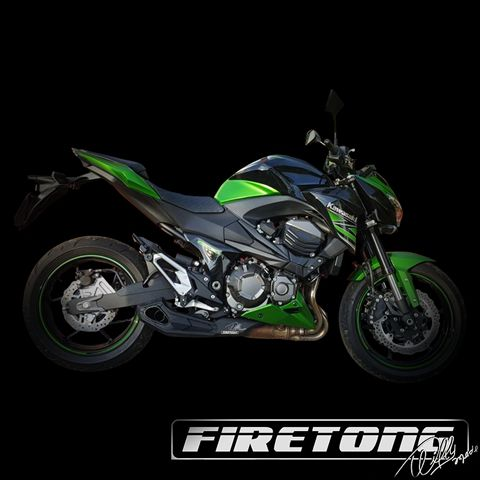 Escapamento Willy Made Ponteira, Kawasaki Z800 /13-18/   - Firetong
