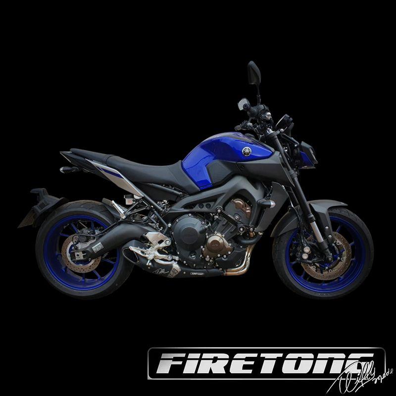 Escapamento Willy Made Yamaha MT-09  /19-20/ Carenagem Nova  - Firetong