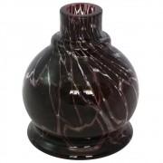 Vaso Pequeno Shisha Glass - Jumbinho Craquelado - Preto