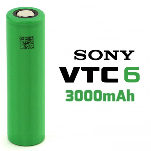Bateria Unidade -  Sony VTC6 30A 3000mha