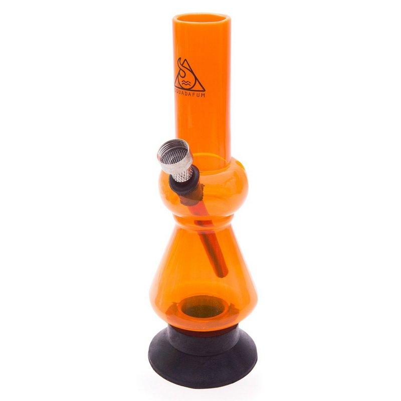 Bong Squadafum Acrilico Pequeno P01 20cm - Laranja