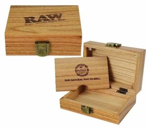 Caixa de Madeira Raw Porta Seda