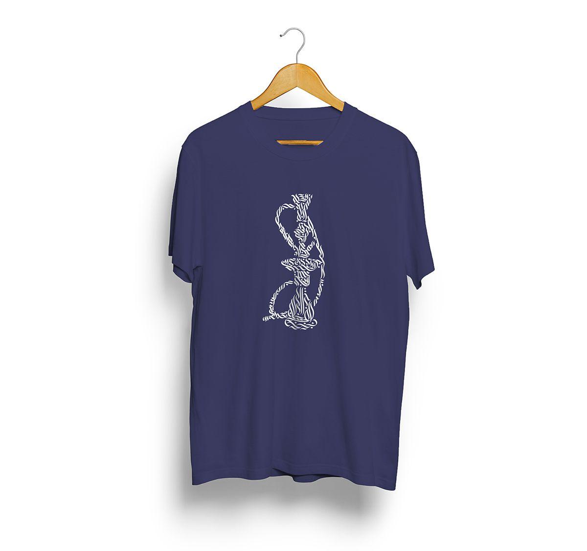 Camiseta Street Azul - Estampa Narguile