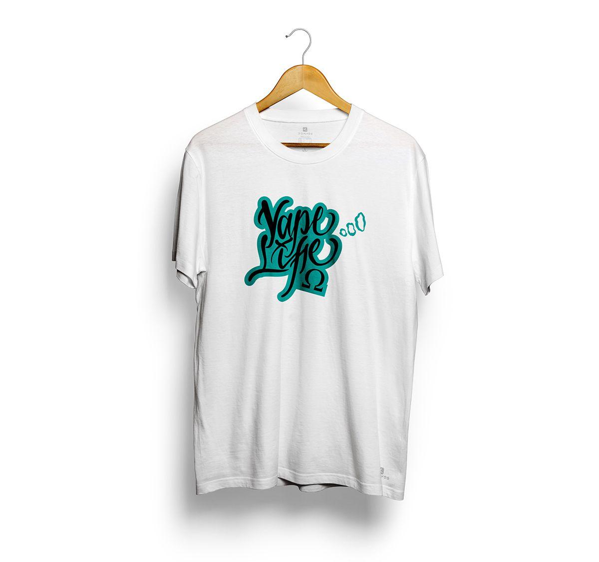 Camiseta Tshirts Branca - Estampa Vape Life