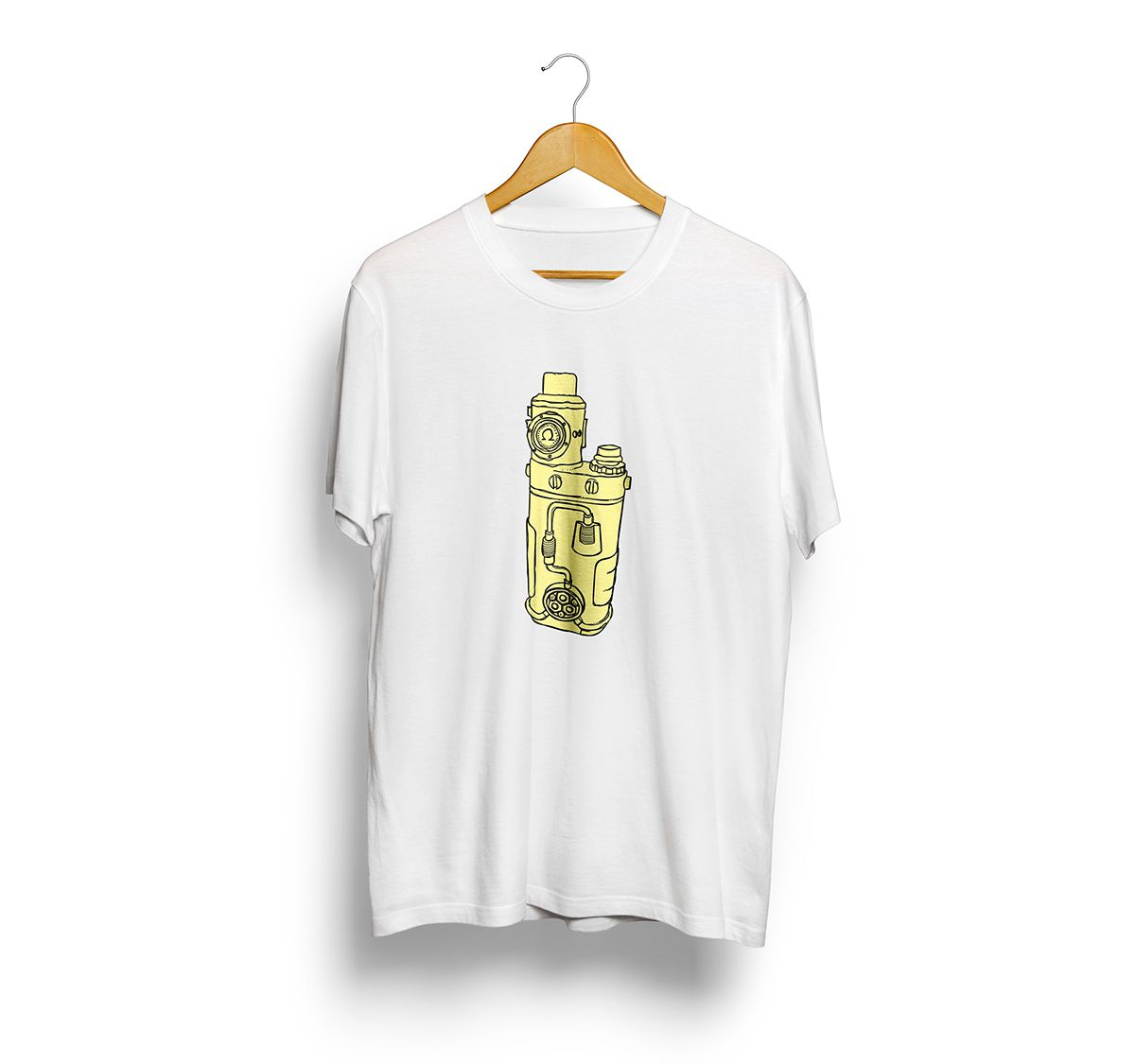 Camiseta Tshirts Branca - Estampa Vape Mecanico