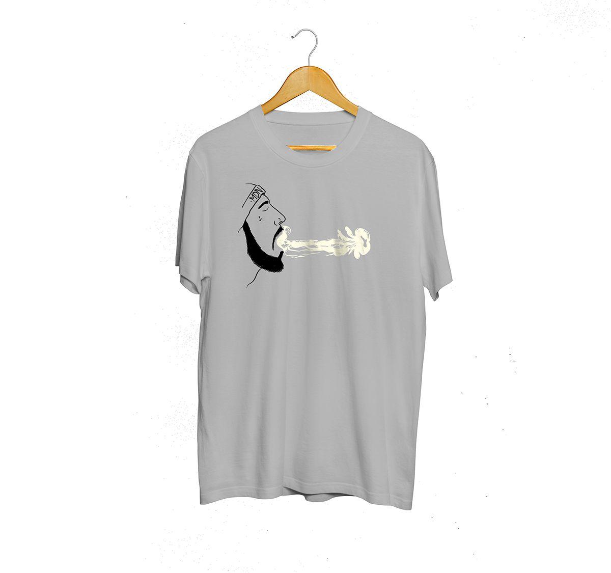 Camiseta Street  Mescla - Estampa Smoke