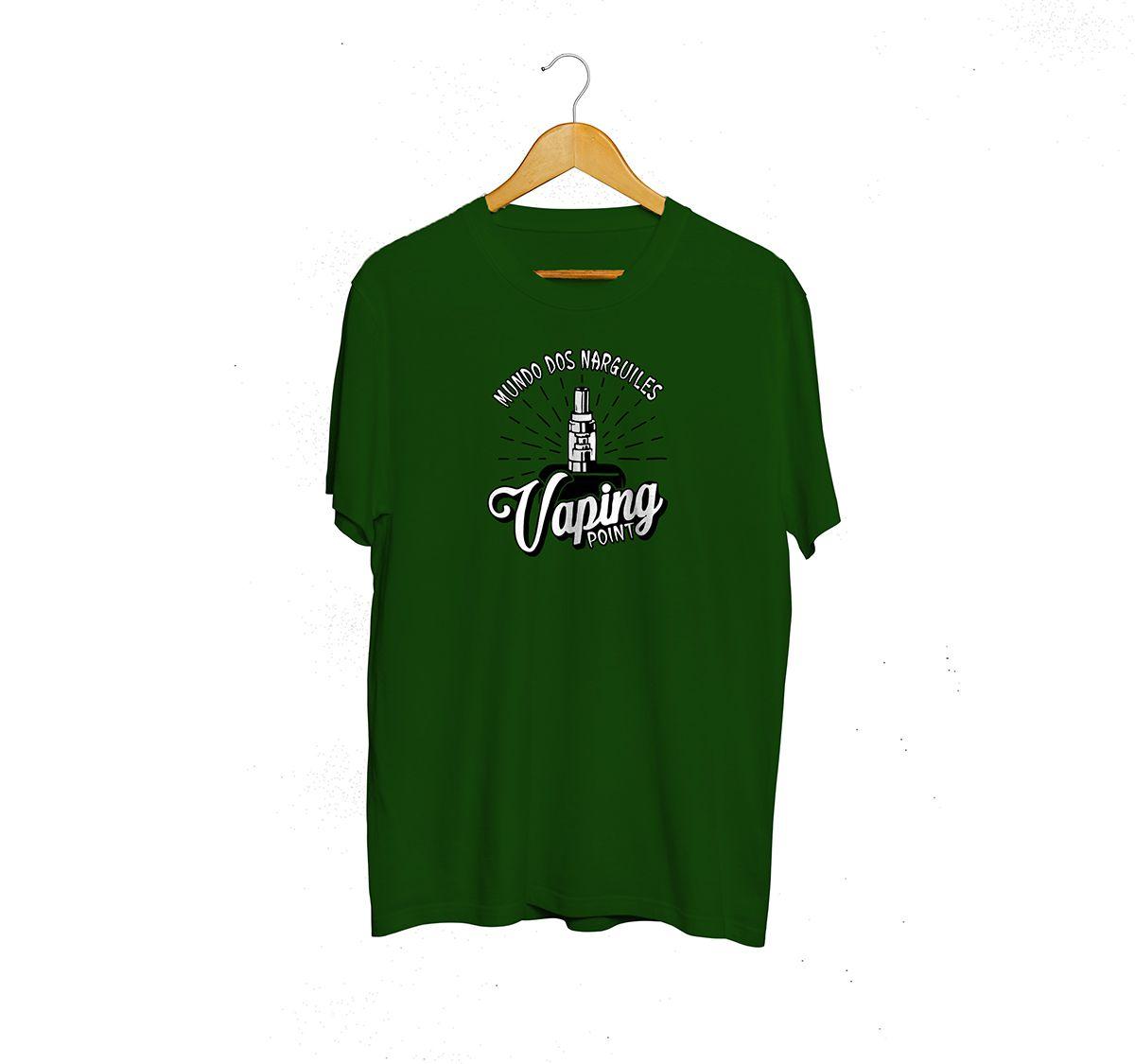 Camiseta Tshirts Verde - Estampa Vaping Point