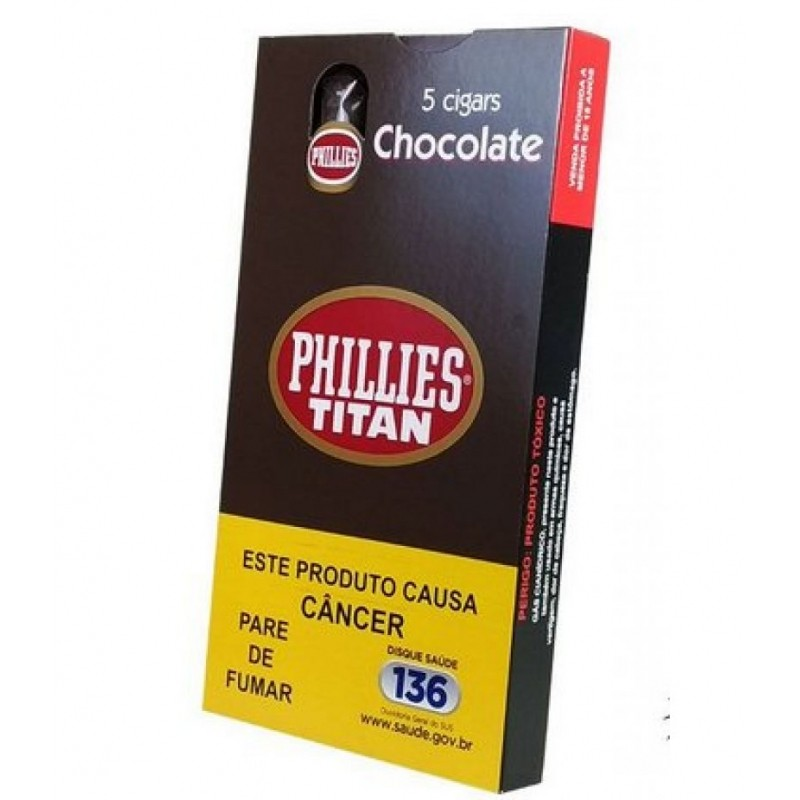 Charuto Phillies Titan - Chocolate (5 unidades)
