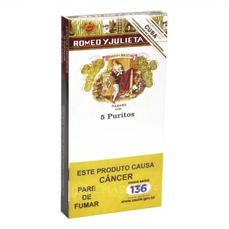Charuto Romeo Y Julieta - Puritos (5 Unidades)