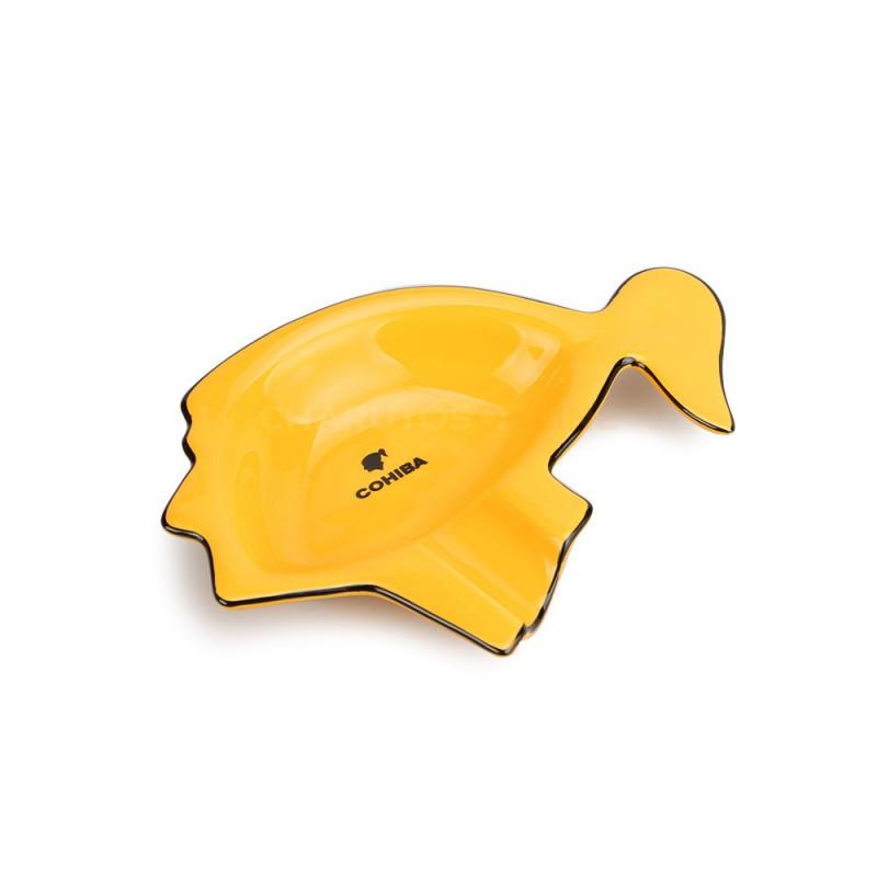 Cinzeiro Porcelana para Charuto Cohiba Amarelo