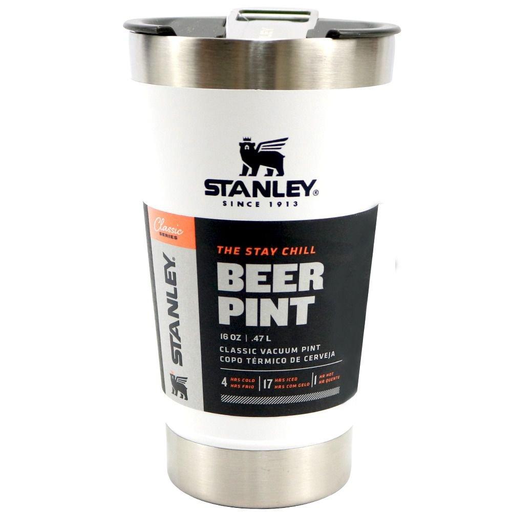 Copo Térmico Polar Stanley Cerveja com Tampa 473ml - Branco