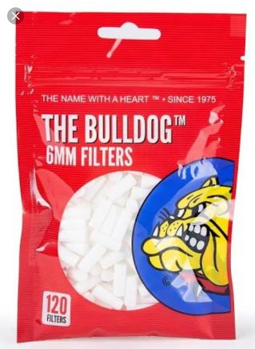 Filtro Cigarro Bulldog Red 6mm com 120 unidades