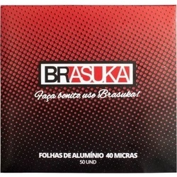 Papel Alumínio - Brasuka 50 Folhas