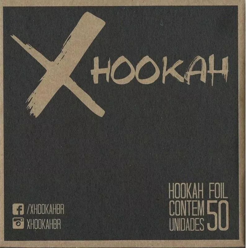 Papel Alumínio - X Hookah 50 Folhas