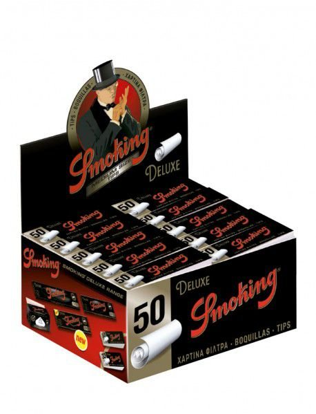 Piteira para Enrolar Smoking Deluxe - Medium Size com 50 tips