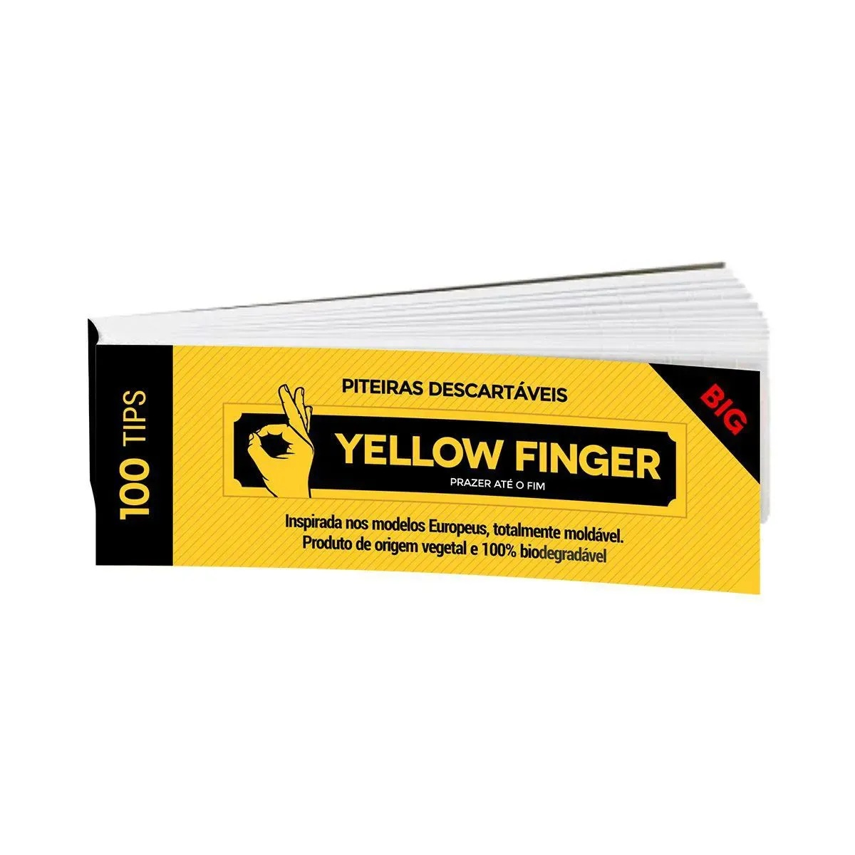 Piteira para Enrolar Yellow Finger - Big 100 tips