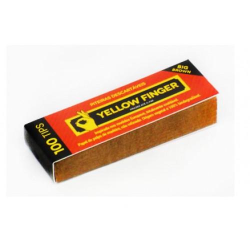 Piteira para Enrolar Yellow Finger - Big Brown 100 tips