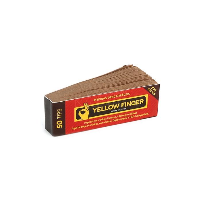 Piteira para Enrolar Yellow Finger - Brown 50 tips