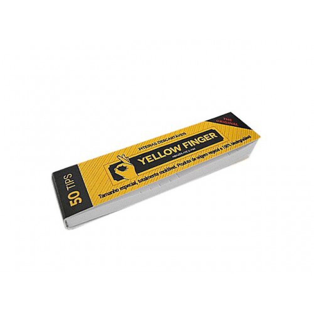 Piteira para Enrolar Yellow Finger - The Original 50 tips