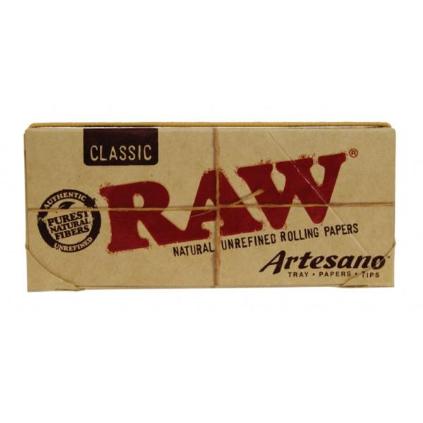 Seda Raw Classic - Artesanato King Size 32 Folhas e 32 Tips