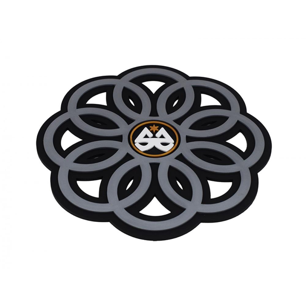 Tapete Stick Ring - Preto com Cinza