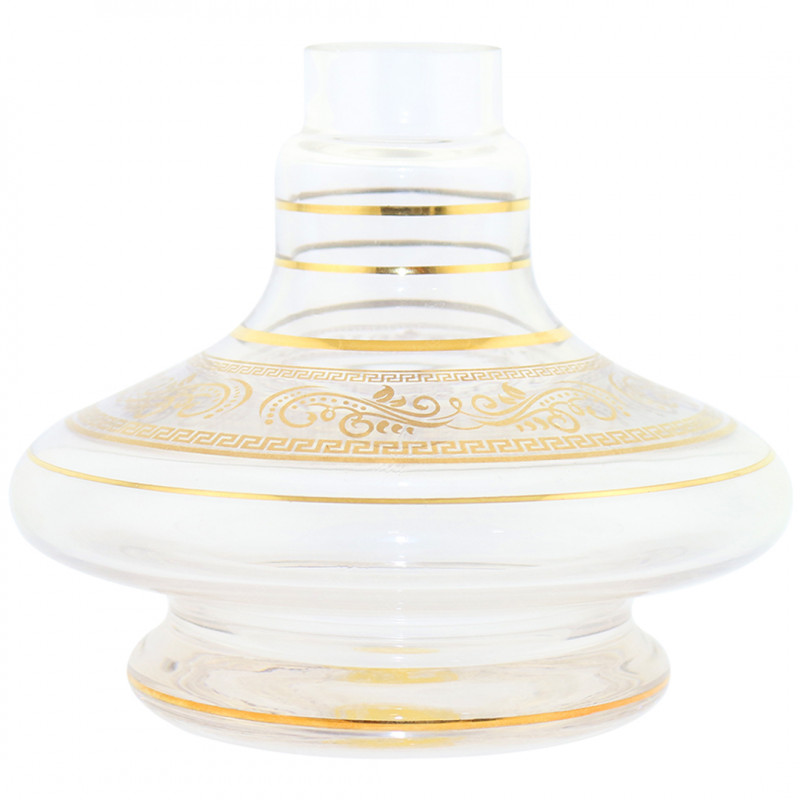 Vaso Pequeno Shisha Glass - Aladim Faixa Grega - Incolor