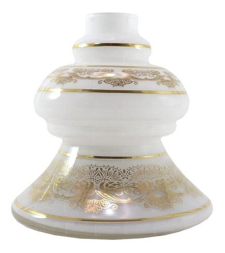 Vaso Shisha Glass Dubai Grega - Branco