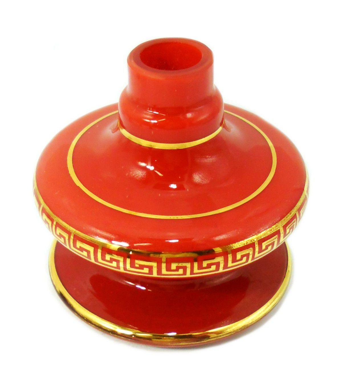 Vaso Shisha Glass Nix Grega - Vermelho