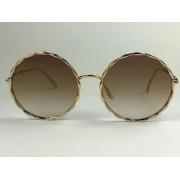 Elie Saab - ES004/S - Dourado - 01Q VU - 56/18 - Óculos de Sol