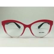 MiuMiu - VMU04R - Vermelho - 116-1O1 - 53/17 - Armação para Grau