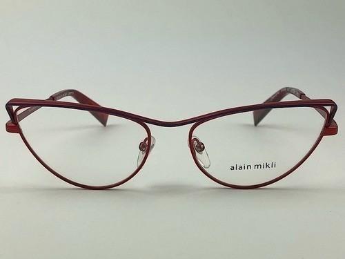 Alain Mikli - AO2038 - Vermelho -  002 - 54/16 - Armação para Grau