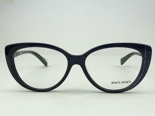 Alain Mikli - AO3084 - Azul Escuro -  005 - 55/15 - Armação para Grau