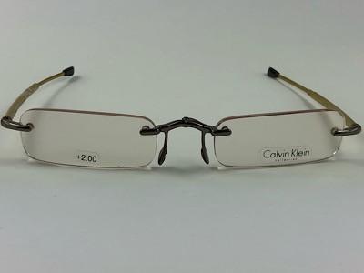 Calvin Klein - CK CR1E + 2,00 - Dourado - 529 - 48/21 - Armação para Grau
