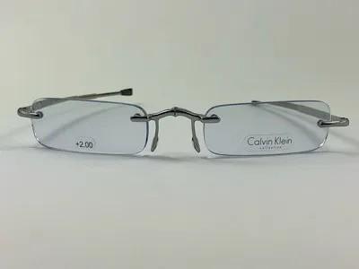 Calvin Klein - CK CR1E + 2,00 - Dourado - 598 - 48/21 - Armação para Grau