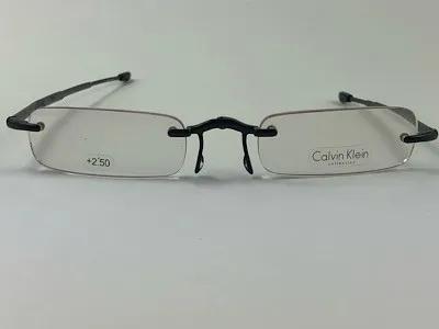 Calvin Klein - CK CR1E + 2,50 - Preto - 590 - 48/21 - Armação para Grau