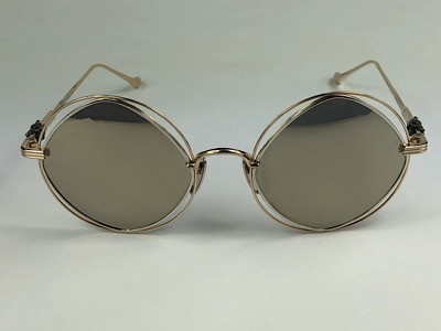 Chrome Hearts - Semenstress - Dourado - 54/21 - Óculos de Sol