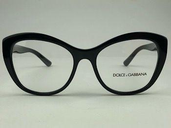 Dolce & Gabbana  DG3284 - Preto - 501 - 53/17 - Armação para grau