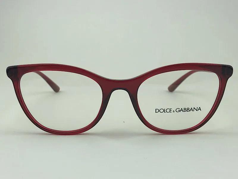 Dolce & Gabbana - DG 3324 - Vermelho - 550 - 52/19 - Armação para Grau
