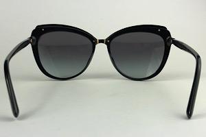 Dolce & Gabbana - DG 4304 - Preto - 501/8G - 57/17 - Óculos de Sol