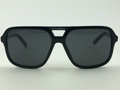 Dolce & Gabbana - DG 4354 - Preto - 501/87 - 58/15 - Óculos de Sol