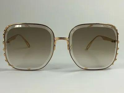 Elie Saab - ES005/S - Dourado - 01Q VU - 57/17 - Óculos de Sol