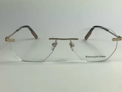 Ermenegildo Zegna - EZ 5143 - Dourado - 052 - 53/19 - Armação para Grau