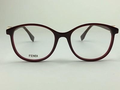 Fendi - FF 0299 - Vinho - LHF - 51/18 - Armação para Grau