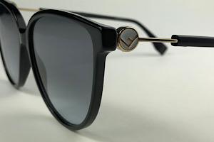 Fendi - FF 0345/S - Preto - 807 GB - 59/14 - Óculos de Sol