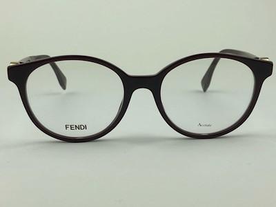 Fendi - FF 0348 - Vinho - 0T7 - 50/18 - Armação para Grau
