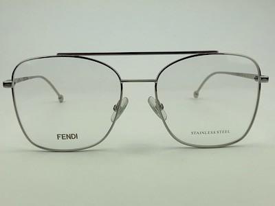 Fendi - FF 0354 - Prata - 010 - 55/17 - Armação para Grau