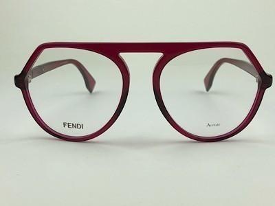 Fendi - FF 0385 - Vermelho - C9A - 53/17 - Armação para Grau