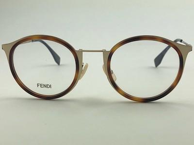 Fendi - FF M0023 - Dourado - J5G - 48/23 - Armação para Grau