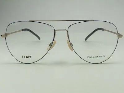 Fendi - FF M0048 - Dourado - JSG - 57/14 - Armação para Grau