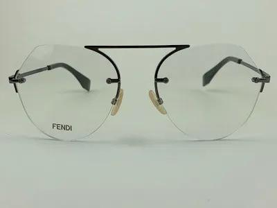 Fendi - FF M0063 - Grafite - KJ1 - 55/19 - Armação para Grau